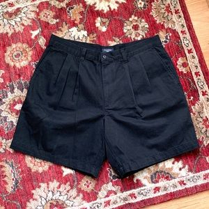 vintage pleated Dockers black cotton shorts